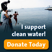 I support clean water donate graphic