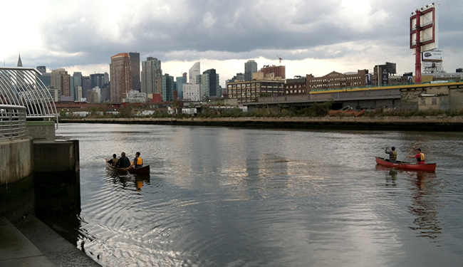 Kayaking Newtown Creek and East River