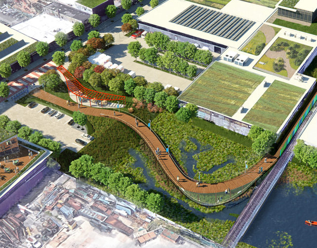 Newtown Creek green infrastructure