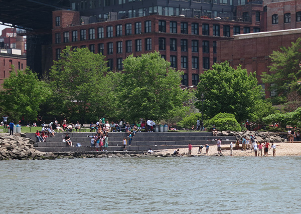 Beach at Dumbo Brooklyn